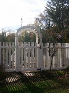 wood fence trellis