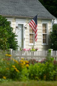 Picket fence for curb appeal