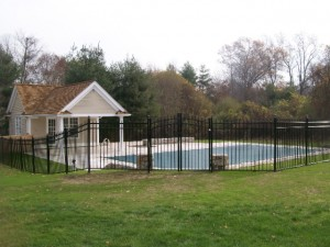 Aluminum pool fence in Westport